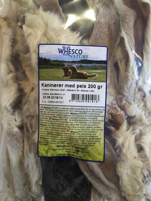 Kaninøre med pels