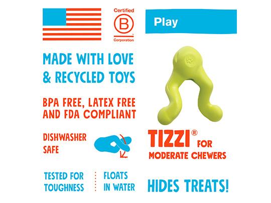 West Paw Tizzi info aktivitetslegetøj fra HundeGodbid