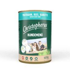 Christopherus Hundemenü med Kalkun, ris og gulerod HundeGodbid