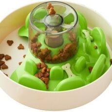 PetDreamHouse SPIN Interactive Feeder UFO Maze Green Tricky