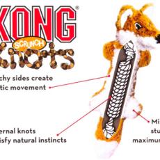 KONG Scrunch Squirrel